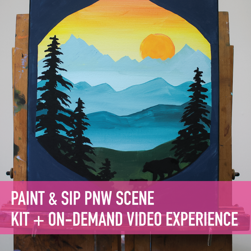 Paint & Sip at Home PNW Scene with Gabrielle Abbott + On-Demand Video