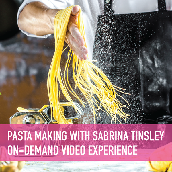 Pasta Making - Tagliolini with Osteria la Spiga's Chef Sabrina Tinsley On-Demand Experience