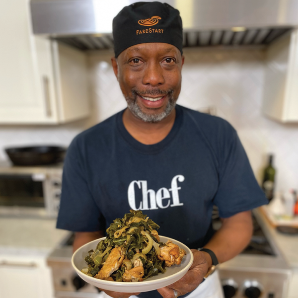Smoked Chicken Wings & Collard Greens with FareStart's Wayne Johnson: Traditions Recipe + On-Demand Video