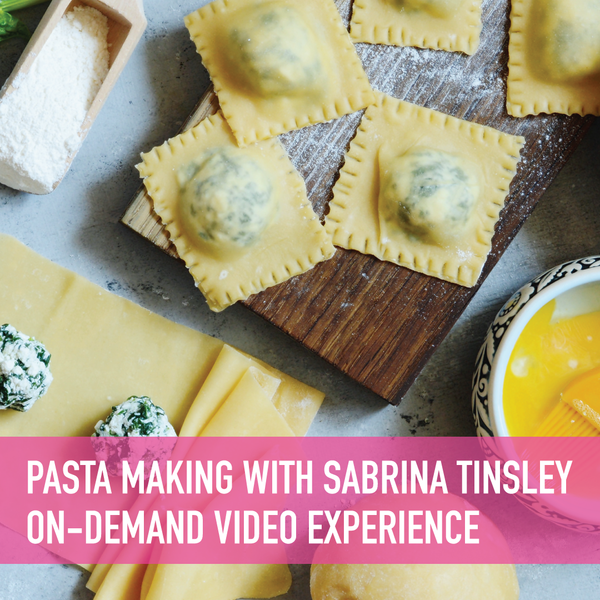 Pasta Making - Tortelli with Osteria la Spiga's Chef Sabrina Tinsley On-Demand Experience