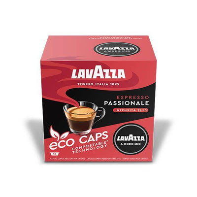Lavazza A Modo Mio Eco Caps Passionale Compostable Capsule Box of 16