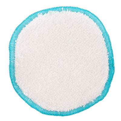 Bamboo Cotton Reusable Make up Remover Pad - 7cm White With Blue Trim