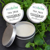 Natural Deodorant - Tea Tree & Peppermint - Zero Plastic - Vegan Friendly