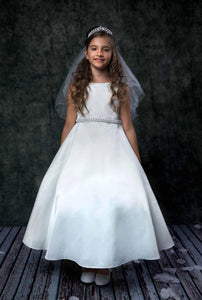 Style No. 386 - Long Satin Communion Dress