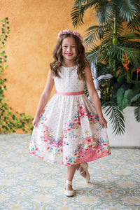 Style No. 478 Chevron Floral Cotton Dress