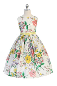 Style No. 480 Botanical Flower Cotton Dress