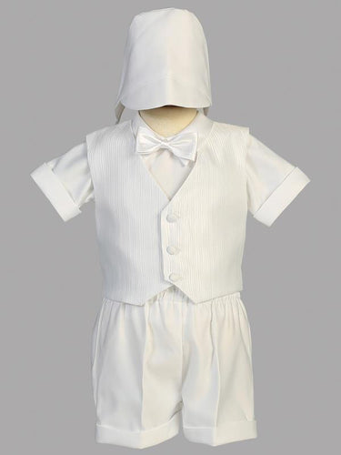 8460-L Satin vest shorts Christening suit