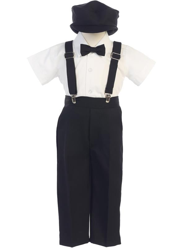G825-L Suspender Pant Set with Hat