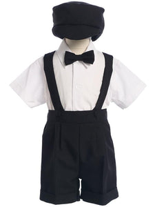 Style No. 850-L - Suspender Short Set with Shirt, Bowtie & Hat