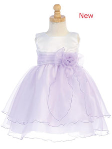 Style No. BL244 - Satin & Crystal Organza Dress