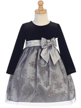 Load image into Gallery viewer, Style No. C504 - Velvet & Glitter Snowflake Tulle Dress