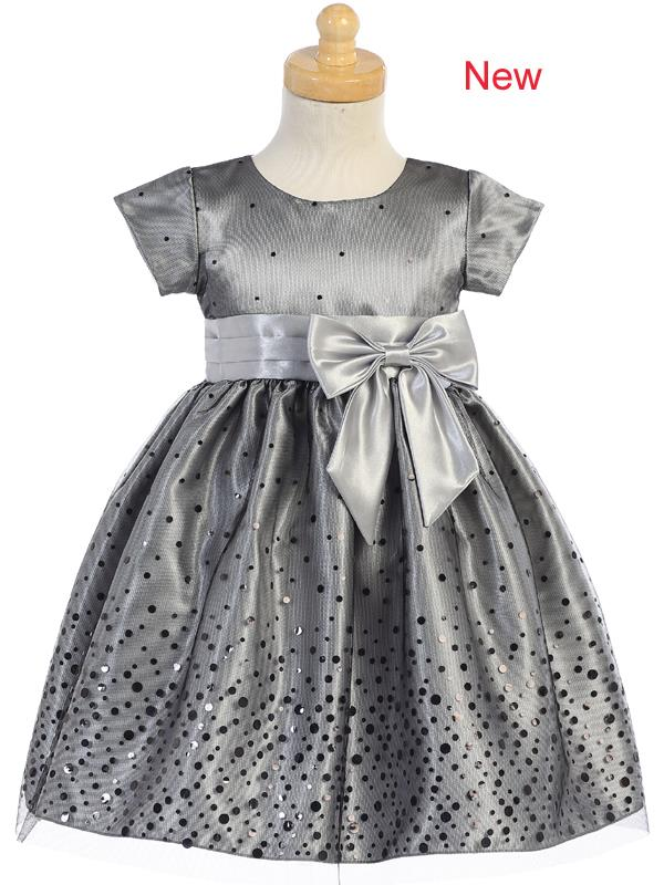 Style No. C518 - Polka-Dot Tulle Dress with Shiny Satin Bow