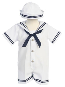 Style No. G250 - Lito Infant Sailor Romper with Hat