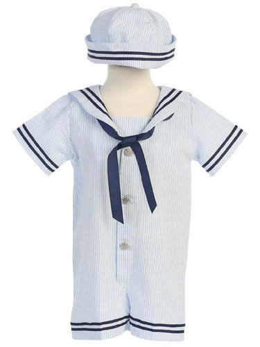 Style No. G255 - Seersucker Sailor Outfit with Hat