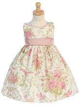 Load image into Gallery viewer, Style No. M651 - Lito Cotton Floral Dress with Taffeta Sash