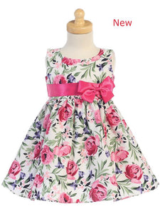 Style No. M727L - Lito Cotton Floral Print Dress with Bow