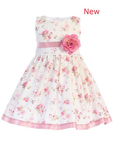 Style No. M734 - Lito Floral Print Dress with Flower Sash