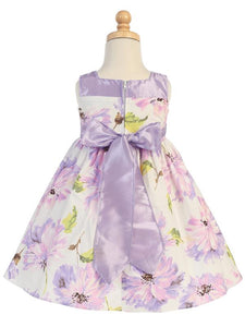 Style No. M708 - Lito Cotton Floral Print Dress with Bow