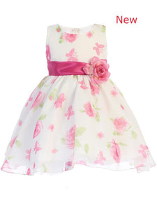 Style No. M737 - Lito Cotton Floral Print Dress with Flower Sash