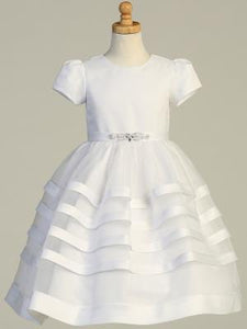 SP708 Satin and tulle Communion dress