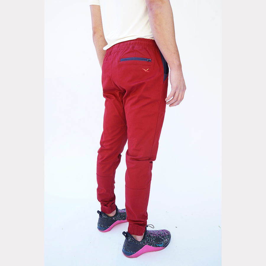 Earth Joggers in Jasper Red