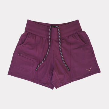 Terra Shorts in Ruby Burgundy