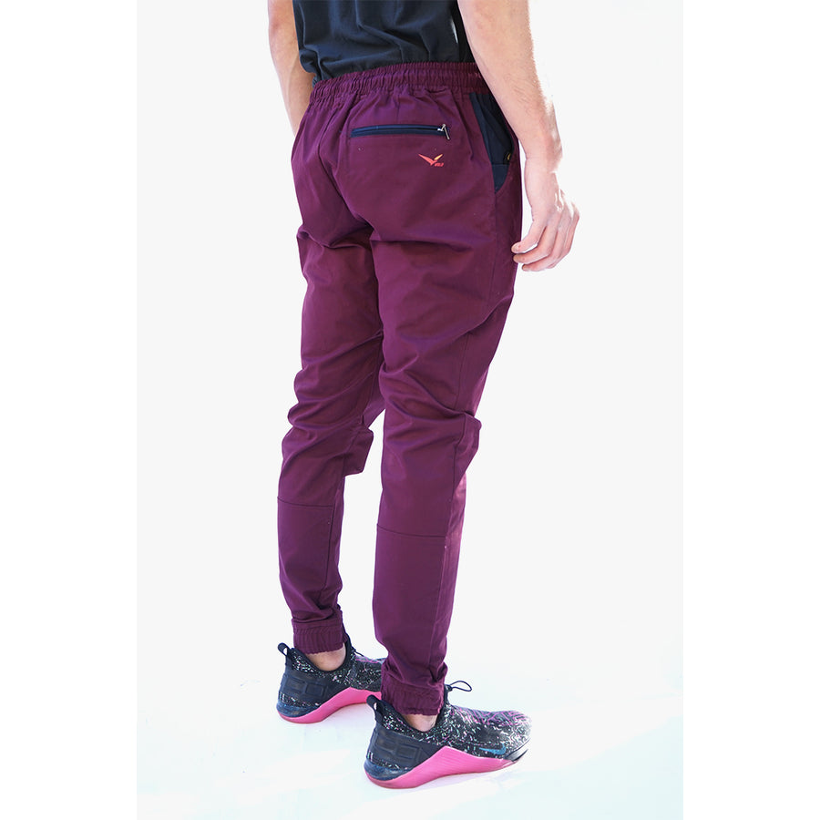 Earth Joggers in Ruby Burgundy