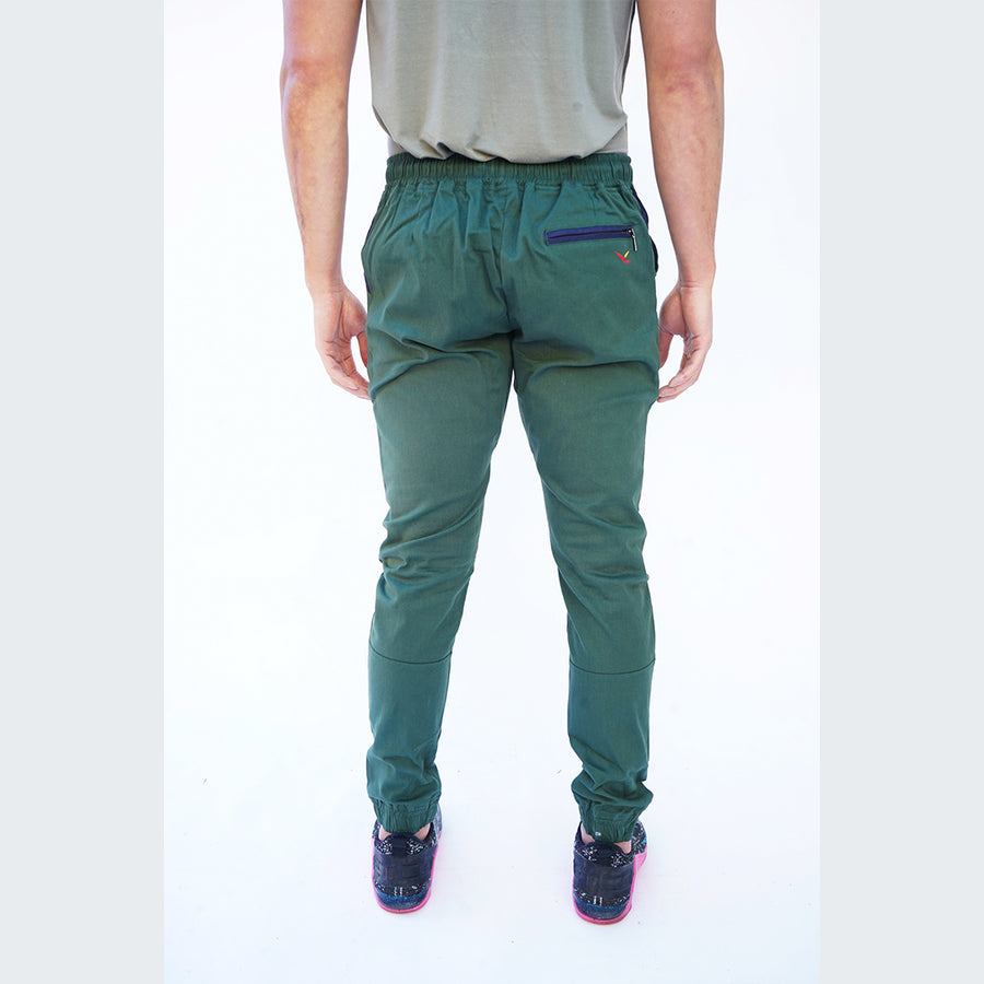 Earth Joggers in Jade Green