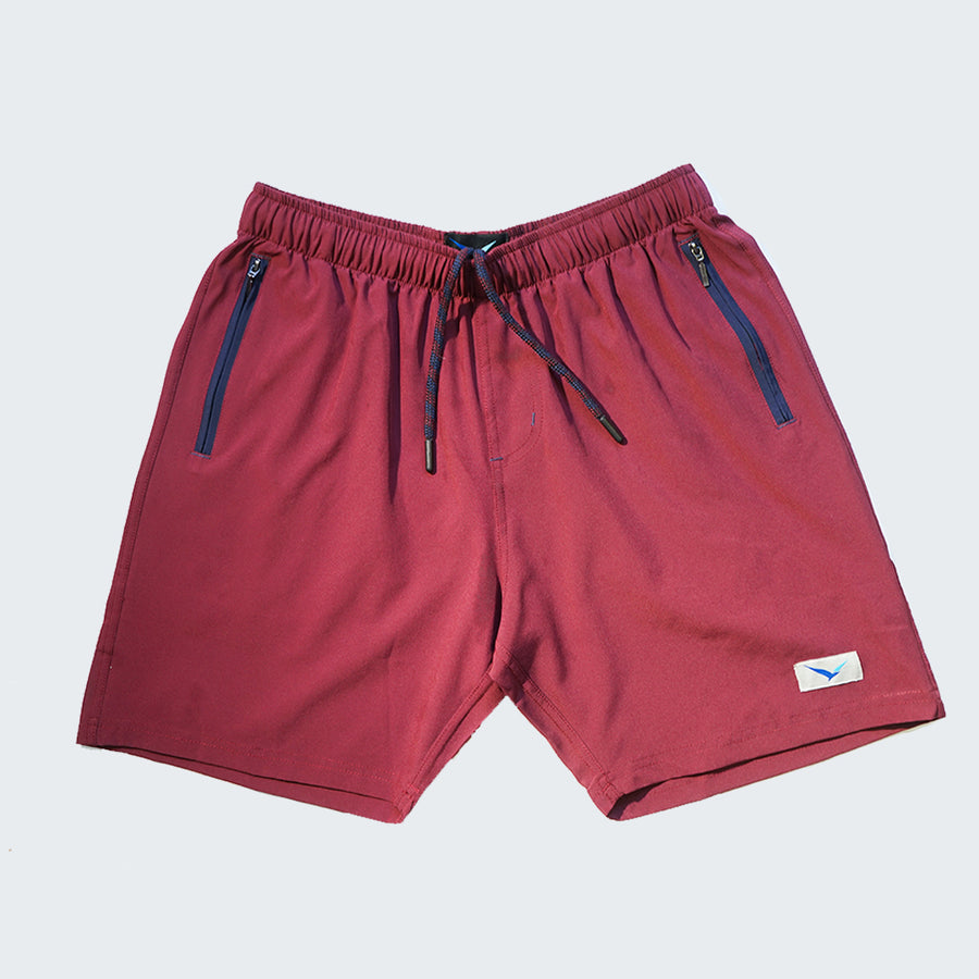 Flight Shorts in Jasper Maroon
