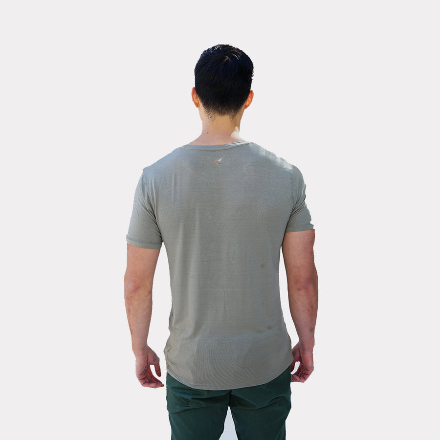 Volo Bamboo Classic Tee in Sage Green