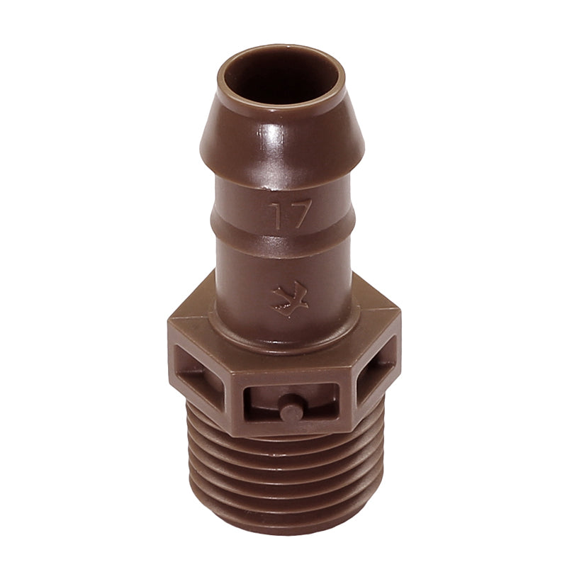 "17MM BARB X 1/2"" MPT MALE ADAPTER"