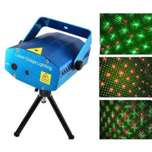 Load image into Gallery viewer, LED Laser Projector Mini Stage Light festival Disco Party Club DJ Diwali AND Christmas Shower Laser Light