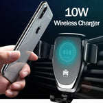 FAST 10W Wireless Car Charger For iPhone XS Max Samsung S9 Xiaomi MIX 2S Huawei Mate 20 Pro 20 RS