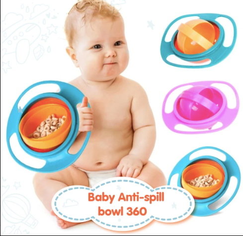 Baby 360° Anti Spill Bowl (Buy 1 Get 1 Free)