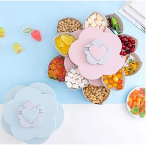 Petal Rotating Fruits Snacks Box