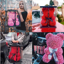 Load image into Gallery viewer, Handmade Luxury Rose Teddy Bear