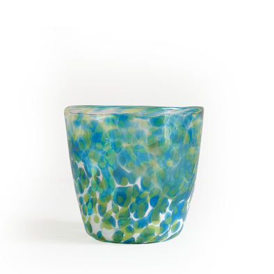 "CURIO Handblown Green & Aqua Glass Tumbler"">  <div class="