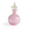 Vintage Pink and White Murano Glass Perfume Bottle