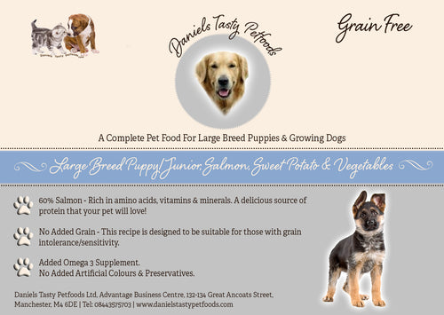 Grain Free - Giant Breed Puppy/Junior Dog Food Salmon with Sweet Potato & Vegetables GF/B | 12KG