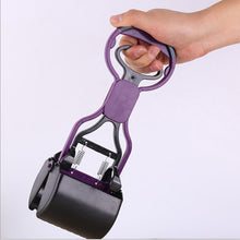 Load image into Gallery viewer, Portable Pooper Scooper Long Handle Plastic Waste Cleaner