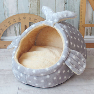 Pet Bed Dog House Kennel Doggy Warm Cushion Basket
