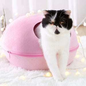 Egg Shape Felt Cloth Pet House