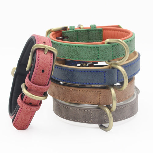 PU Leather Dog Collar Durable Necklack Collar