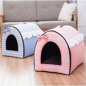 Tent Nest Warm Puppy Rabbit Cave Bed