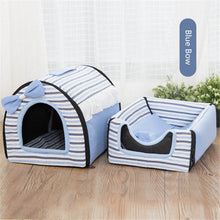 Load image into Gallery viewer, Tent Nest Warm Puppy Rabbit Cave Bed
