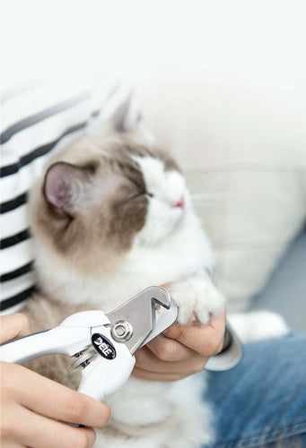 Stainless Steel Pet Nail Clippers Cat Safety Cut Adjustable