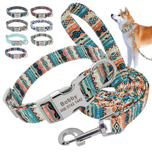 Load image into Gallery viewer, Customized Dog Puppy Collar and Leash