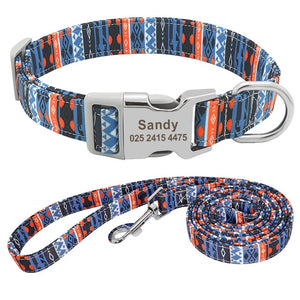 Customized Dog Puppy Collar and Leash