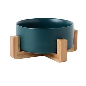 Ceramic Bowl with Bamboo Stand