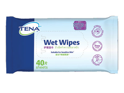 TENA LARGE WET WIPE {40'S/PACK}
